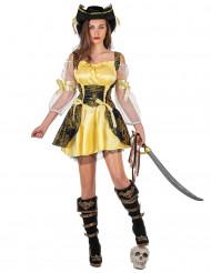 Geel piraten kostuum voor vrouwen