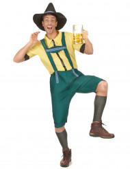 Groen en geel Beiers kostuum voor heren