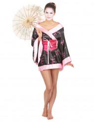 Kort geisha kostuum voor dames