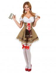 Bruin Beiers kostuum voor vrouwen