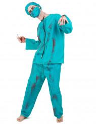 Halloween Zombiechirurgenkostuum voor mannen