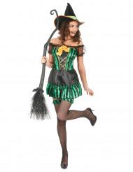 Verkleedkostuum heks voor dames Halloween artikel