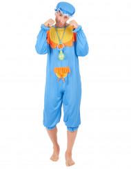 Blauwe baby kostuum voor mannen