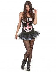 Sexy skelet kostuum voor vrouwen