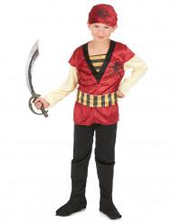 Rood en goudkleurig piratenkostuum voor jongens