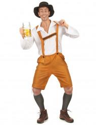 Oranje en wit Beiers kostuum voor volwassenen