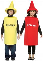Vermomming voor een koppel: ketchup & mosterd voor kinderen