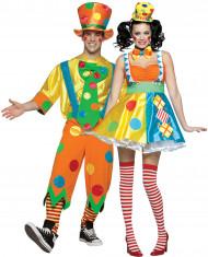 Vermomming voor een koppel: clowns