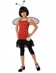 Lieveheersbeestje kostuum met zwarte stippen voor meisjes