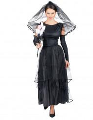 Zwarte bruid kostuum voor dames