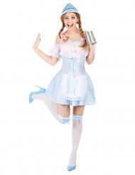 Blauw Tiroler jurkje voor vrouwen