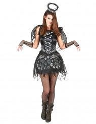 Zwarte engel kostuum voor vrouwen