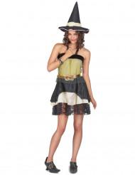 Halloween kostuum van heks voor dames
