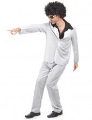 Witte disco kostuum voor mannen