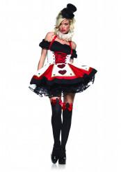 Sexy hartenvrouw kostuum