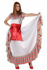 Gestreepte Mexicaanse outfit voor vrouwen
