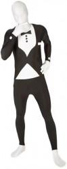 Morphsuits™-vermomming met zwart kostuum voor volwassenen