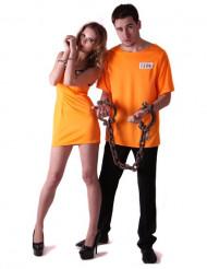 Oranje gevangenen koppelkostuum