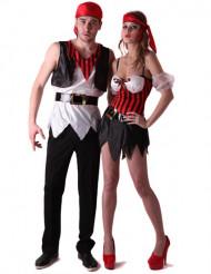 Piraat koppelkostuum voor volwassenen