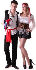 Piraten koppelkostuums voor volwassenen