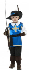 Glinsterend blauw musketierskostuum voor jongens