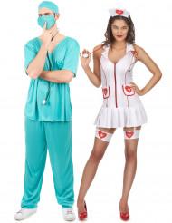 Verpleegster en dokter koppelkostuum