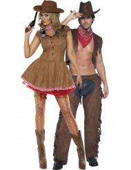 Cowgirl en cowboy koppelkostuum