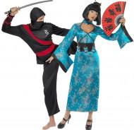 Kostuum voor een koppel: Chinese en ninja