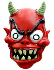 Rood demon masker voor volwassenen