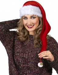Lange kerstmuts met belletje