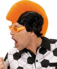 Oranje hanekam pruik voor mannen