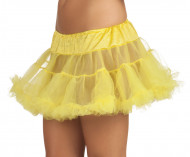 Gele onderrok in tule voor vrouwen