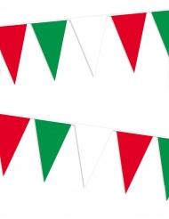 Slinger met Italiaanse supportersvlaggen