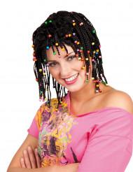Zwarte rastapruik met parels voor vrouwen