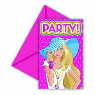 6 Barbie Dollicious™ uitnodigingen