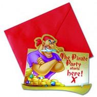 6 uitnodigingen van Disney Pirates™