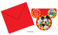 6 uitnodiging van Mickey Clubhouse™
