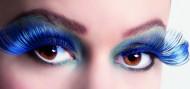 Blauwe valse wimpers (voor vrouwen)