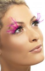Lange roze valse wimper smet pluimen voor dames