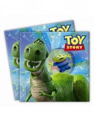 20 papieren Toy Story Partysaurus™-servetten