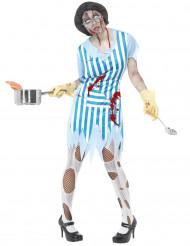 Zombiekokskostuum voor volwassenen (Halloween)