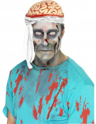 Hoed schedel met verband Halloween voor volwassenen