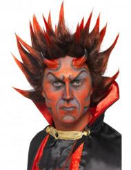 Demon Halloweenpruik voor volwassenen