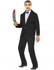 Verkleedkostuum buikspreker voor heren Halloween