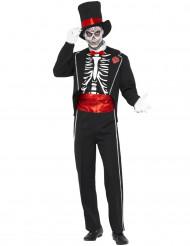 Halloweenvermomming als gentlemanskelet voor volwassenen