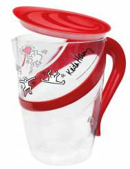 Keith Haring™-set met kan + 4 bekers