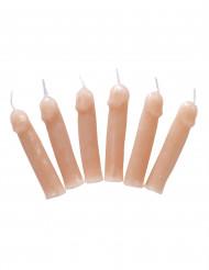 6 kaarsen in de vorm van penis