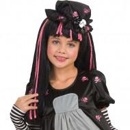 Zwarte Dolly-pruik voor kinderen
