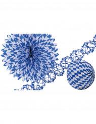 Blauw-wit versiering set