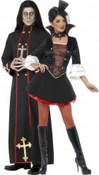 Koppel monnik en vampier Kostuum voor Halloween